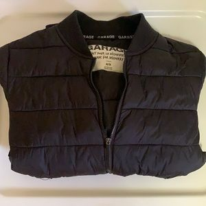 garage black bomber jacket